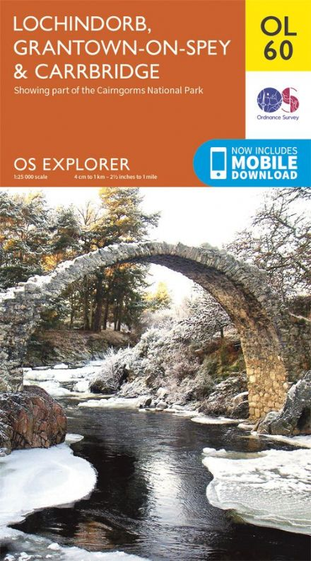 OS Explorer OL 60 Lochindorb & Grangetown on Spey & Carrbridge